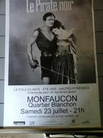 Affiche - Monfaucon DP65 - Cinéma De Pleine Air Le Pirate Noir - Affiches & Posters