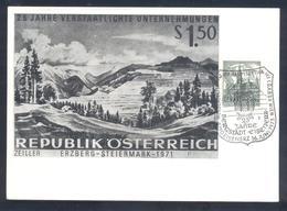 Austria 1989 Card: Minerals Mineralien Mineraux; Erzberg Eisenerz - Mineralien