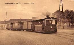 Nieuwkerken (Waas) - Tramstatie - Dorp (top Animation, Tram Tramway Stoom - Sint-Gillis-Waas