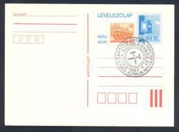 Hungary 1982 Postal Stationery Card: Mailbox; Minerals Mineralien Mineraux; Mining Bergbau Pecz Cancellation - Mineralien