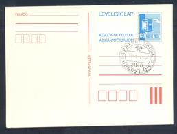 Hungary 1982 Postal Stationery Card: Mailbox; Minerals Mineralien Mineraux; Mining Bergbau Saskia Days Orszlany Cancel - Mineralien