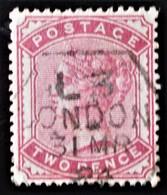 REINE VICTORIA 1880/81 - OBLITERE LONDON - YT 70 - 1840-1901 (Victoria)