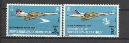 Nouvelles Hébrides   N° 424  Et 425  Concorde   Neufs  * * TB  = MNH VF    Soldé  à Moins De  20  % ! ! ! - Concorde