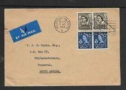 Great Britain, 1968, 1s6d Airmail WOLVERHAMPTON STAFFS 10 OCT 68 > S.Africa (Ulster + Jersey Stamps) - 1952-.... (Elizabeth II)