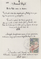 Carte  Maximum   ANDORRE   Institut  Des  Etudes  Andorranes   1977 - Maximumkarten (MC)