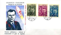 Albania Albanien  FDC  Mi. 647 / 649  1. Bemannter  Weltraumflug  Juri Gagarin - FDC & Gedenkmarken