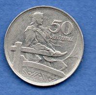 Lettonie   - 50 Santimu 1922  - Km # 6-   état  TTB - Latvia