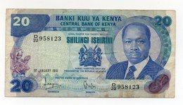 Kenia - 1981 - Banconota Da 20 Scellini - Usata - (FDC15198) - Kenya
