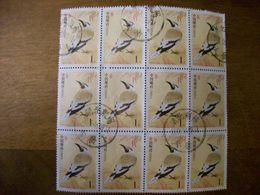 CHINE Tp  Oiseaux Bloc De 12 Ob Annee 2002 - 1949 - ... République Populaire