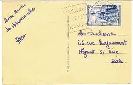 DAGUIN VER SUR MER SUR CPSM ARROMANCHES - Postmark Collection (Covers)