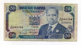 Kenia - 1991 - Banconota Da 20 Scellini - Usata - (FDC15199) - Kenia