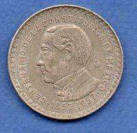 Mexique    - 1 Pesos 1957   - Km # 458   état  TB+ - Mexiko