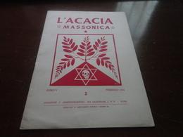 L'ACACIA MASSONICA-ANNO V FEBBRAIO 1951 - Libri, Riviste, Fumetti