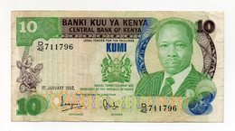 Kenia - 1982 - Banconota Da 10 Scellini KUMI - Usata - (FDC15200) - Kenya