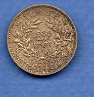 Tunisie   - 50 Centimes 1933   - Km # 246  état  TTB  - Année Rare - Tunisia