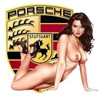 Autocollant Sticker PORSCHE PIN UP Nue 911 356 964 997 996 RS SC 2.7 2.4 2.2 Rallye Vh D 15 X 15  CMS - Voitures