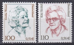 Deutschland Germany 2000 Persönlichkeiten Schauspieler Kabaraett Politiker Politicians Weiser Strobel, Mi. 2149-0 ** - Unused Stamps