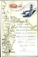 Landkarten Cp Cuxhaven Niedersachsen, 16. Jahresversammlung Evang. Prot. Missionsverein, Alte Liebe - Allemagne