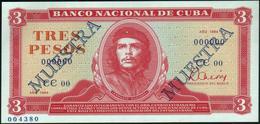 """CUBA - 3 Pesos 1984 {SPECIMEN} {MUESTRA} {""""Che"""" Guevara} UNC P.107 S - Cuba"""