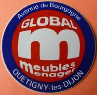 AUTOCOLLANT STICKER - GLOBAL MEUBLES - QUETIGNY Les DIJON 21 - Autocollants