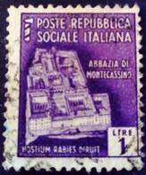 Italie Italy Italia 1944 Yvert 38 O Used Usato - Gebraucht