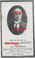 Doodsprentje Isidoor Michiels Ramskapelle 1863 En Overleden Te Leffinge 1929 Vergauwe Lucie Bidprentje Nieuwpoort - Images Religieuses