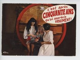 Villié Morgon : C'est Après Cinquante Ans Qu'on Apprécie Vraiment (cp Vierge N°0038) Pin Up Vin - Humor
