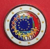 FRANCE 2015 - DRAPEAU EUROPEEN  - 2 EUROS COMMEMORATIVE COULEUR - FARBE - COLORED - COLOR - RARE AVEC LE TOUR BLANC - France