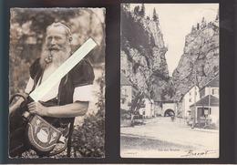 Suisse / Lot De 2 CP / Fumeur De Pipe, Armailli De La Gruyeres / Col Des Roches - Suisse