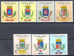 Costa Rica - 1969 - Yt 290/296 - Armoiries De Villes - ** - Costa Rica