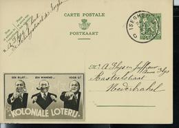 Publibel Obl. N° 314 B. Olive (Koloniale Loterij) Obl. Iseghem  C C  24/08/1938 - Ganzsachen