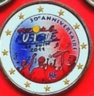 FRANCE 2011 - FETE DE LA MUSIQUE  - 2 EUROS COMMEMORATIVE COULEUR - FARBE - COLORED - COLOR - RARE AVEC LE TOUR BLANC - France