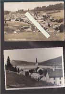 Suisse / Lot De 2 CP / CPSM / Tramelan, Vue Generale / Le Sentier, Dt De Vaulion - Schweiz