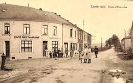 Lamorteau - Route D'Ecouviez (animée Café Restaurant Douanier Pompe à Essence) - Rouvroy