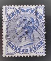 REINE VICTORIA 1880/81 - OBLITERE - YT 76 - MI 72 (BLEU-GRIS) - Oblitérés