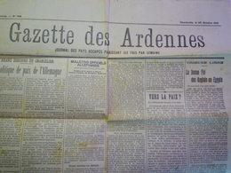 GP 2019 - 1039  GAZETTE Des ARDENNES Du 25 OCT 1918  (Charleville)   XXXX - Old Paper