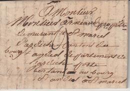 64/Bayonne, TM9 -> Poste Restante Bourg St Andéol Ardèche - Marcophilie (Lettres)