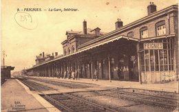 Carte Postale Ancienne De  FEIGNIES - La Gare - Feignies