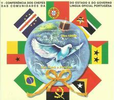 SANTO TOME ET PRINCIPE   H/B  LENGUAS PORTUGUESAS     MNH  ** - Sao Tomé Y Príncipe