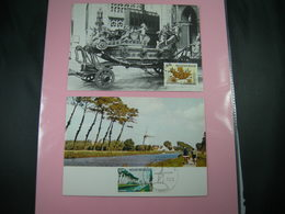 "BELG.1980 1976 & 1977 FDC Maxicards: "" Tourisme MONS & DAMME "" - Maximum Cards"