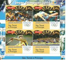 SANTO TOME ET PRINCIPE   H/B  JUEGOS OLIMPICOS 2004    MNH  ** - Sao Tomé Y Príncipe