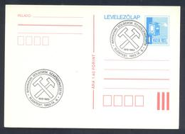 Hungary 1982 Postal Stationery Card: Mailbox; Minerals Mineralien Mineraux; Mining Bergbau Budapest Cancellation - Mineralien