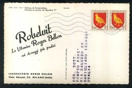 LABORATORIO ROGER BELLON MILANO - ROBELVIT - CHATEAU DE FONTAINEBLEAU - Pubblicitari