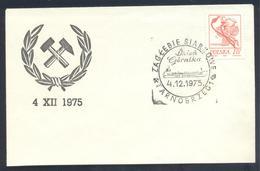 Poland 1975 Cover:  Minerals Mineralien Mineraux; Mining Bergbau;  Tarnobrzeg  Cancellation; Sulpur Mine ; Boats - Mineralien