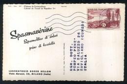 LABORATORIO ROGER BELLON MILANO -SPASMAVERINE - CHATEAU DE FONTAINEBLEAU - Pubblicitari