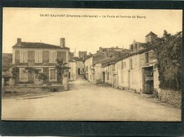CPA - SAINT SAUVANT - La Poste Et L'entrée Du Bourg - Altri Comuni