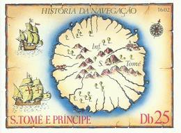 SANTO TOME Y PRINCIPE    H/B   HISTORIA NAVEGACION    MNH  ** - Sao Tomé Y Príncipe