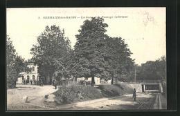 CPA Sermaize-les-Bains, La Gare Et Le Passage Inferieur - Sermaize-les-Bains