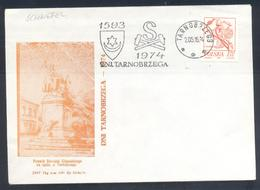 Poland 1974 Cover:  Minerals Mineralien Mineraux; Mining Bergbau;  Sulphur Mine; Tarnobrzeg Cancellation; Architecture - Mineralien