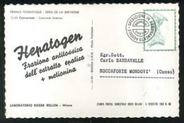 LABORATORIO ROGER BELLON MILANO - HEPATOGEN - FRANCE TURISTIQUE - SERIE LA BRETAGNE - CONCARNEAU - COSTUMES BRETONS - Pubblicitari